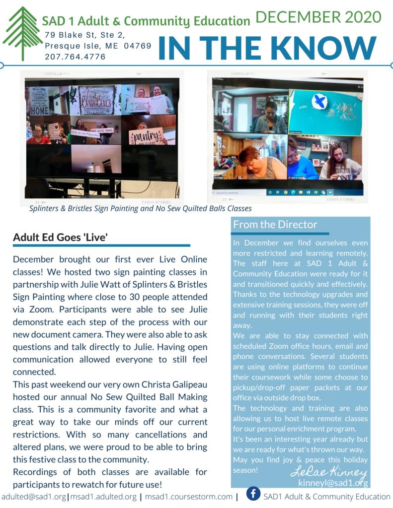 MSAD1 Adult & Community Education image #4264